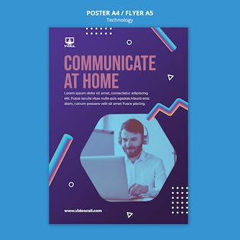 Kommunikations-app poster vorlage