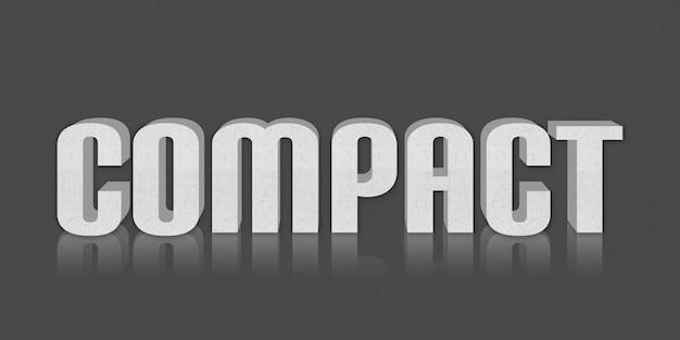 Kompakter bearbeitbarer textstil-effekt