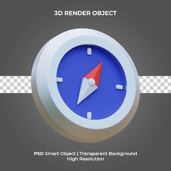 Kompass 3d render isolierte premium psd