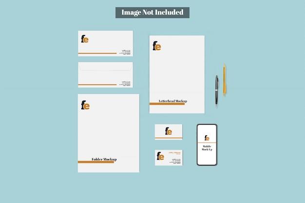 Komplettes branding mockup bundle