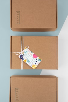 Komposition mit bastelbox-tag-mock-up