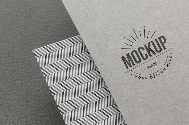 Komposition mit firmen-branding-karten-mock-up