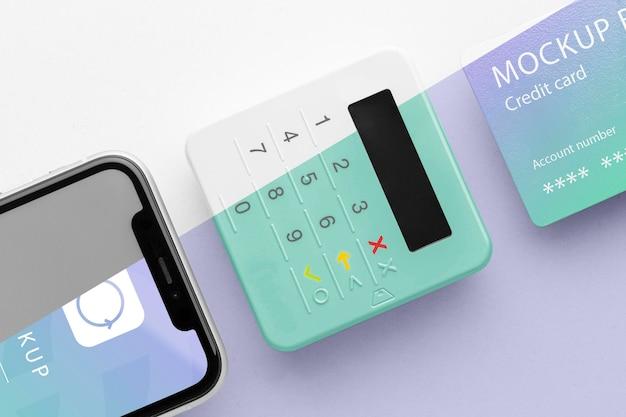Komposition mit smart payment app mock-up