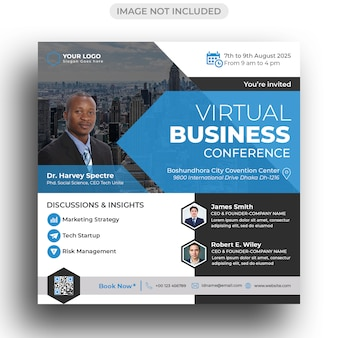 Konferenz flyer social media post vorlage
