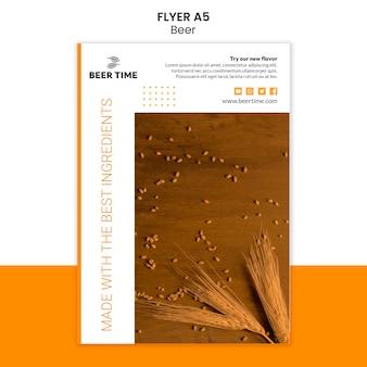 Konzept der bierfliegervorlage