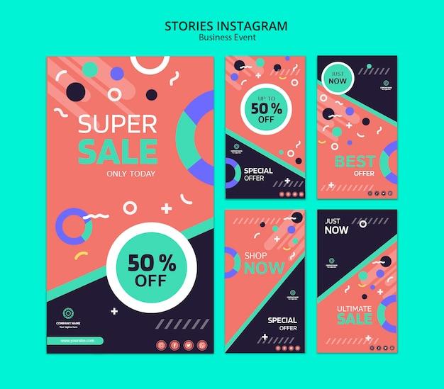 Konzept für geschäftsereignis instagram geschichten