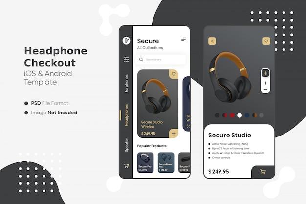 Kopfhörer shop app ui