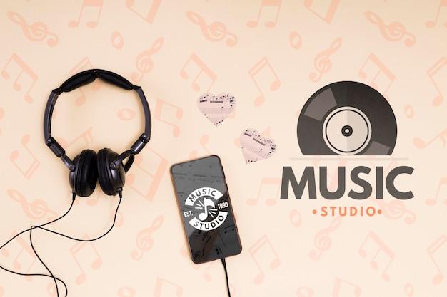 Kopfhörer und handy