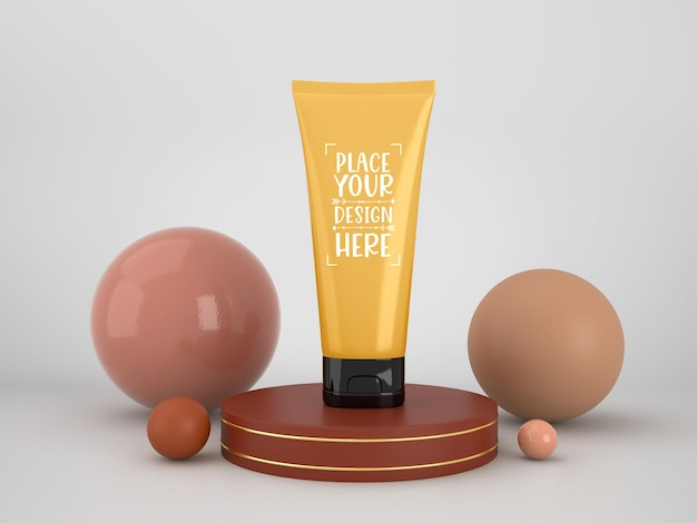 Kosmetik-branding-modell. paket für branding und identität. bereit für ihr design
