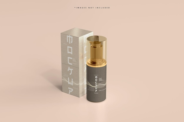 Kosmetik-pumpflasche und -box-modell