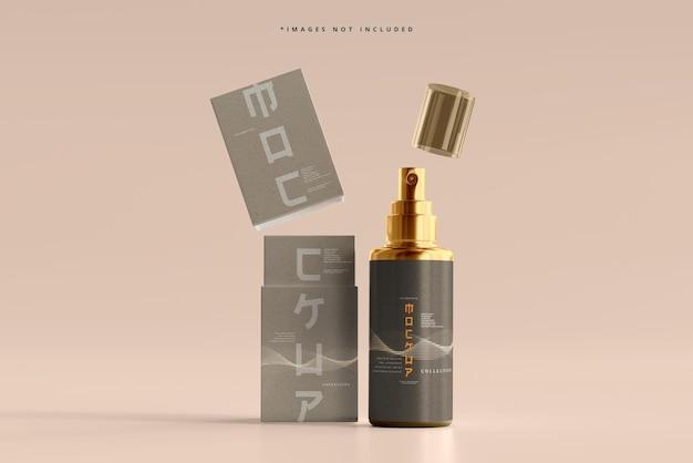 Kosmetik-sprühflasche und -box-modell