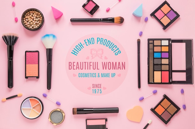 Kosmetikanordnung draufsicht