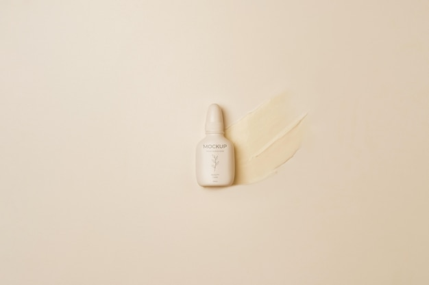Kosmetikbehälter mit draufsicht Kostenlosen PSD