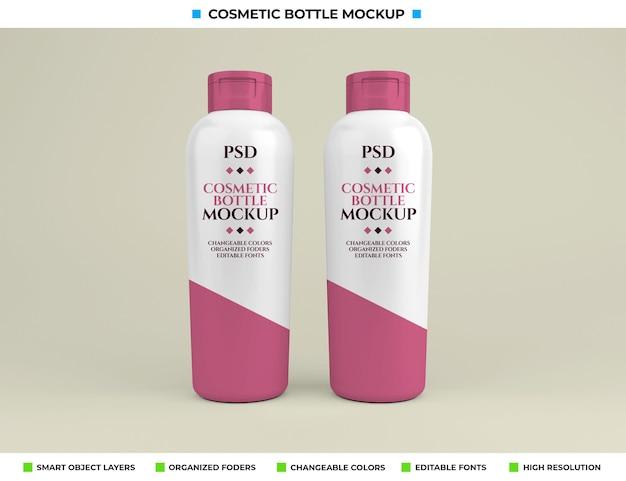 Kosmetikflaschenmodell im schönheitskonzept
