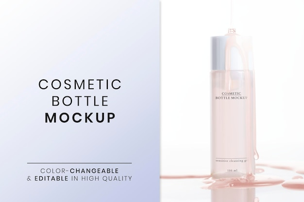 Kosmetikprodukt-mockup-psd für schönheit und hautpflege