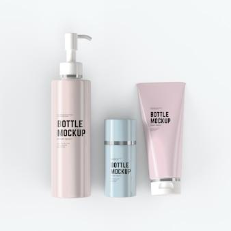 Kosmetikschläuche mockup design