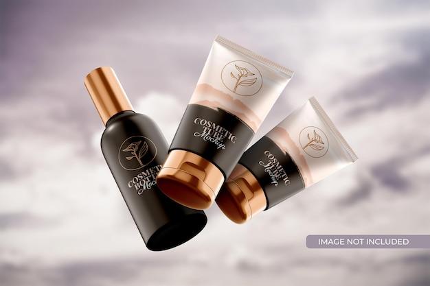 Kosmetikschlauch- und flaschenverpackungsmodell