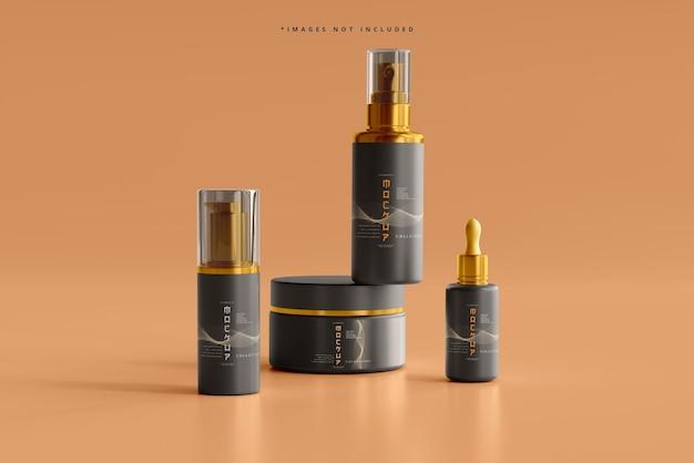 Kosmetische branding-mockup-szene