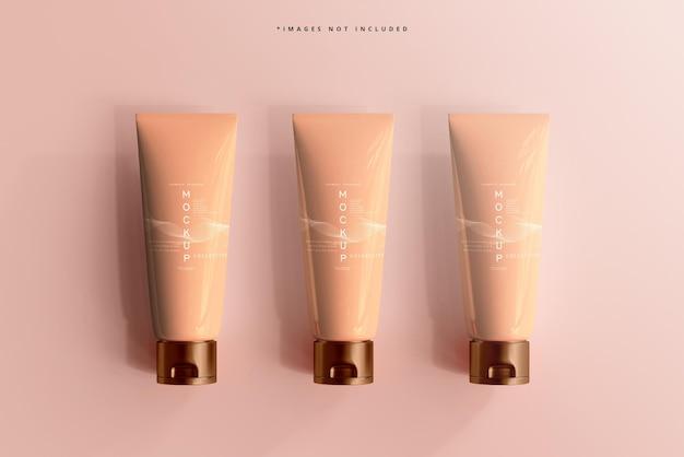 Kosmetische creme tube mockup