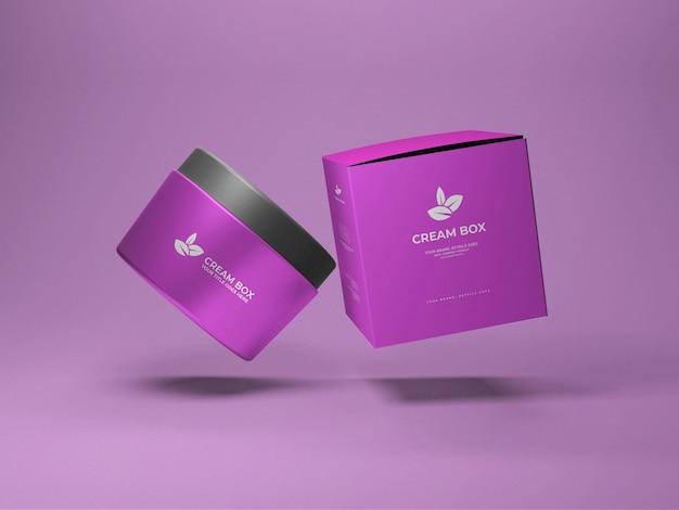 Kosmetische cremebox-modell