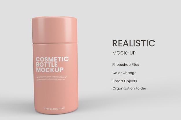 Kosmetische flaschenmodelle entwerfen isoliert