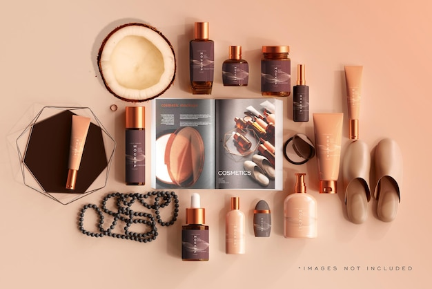 Kosmetische flaschenmodellszene
