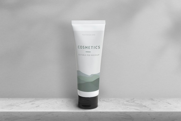 Kosmetische tube produktmodell psd beauty-verpackung