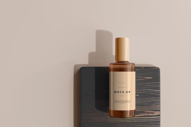 Kosmetisches flaschenmodell aus glas