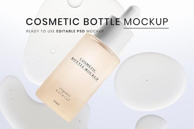 Kosmetisches flaschenmodell psd gebrauchsfertig