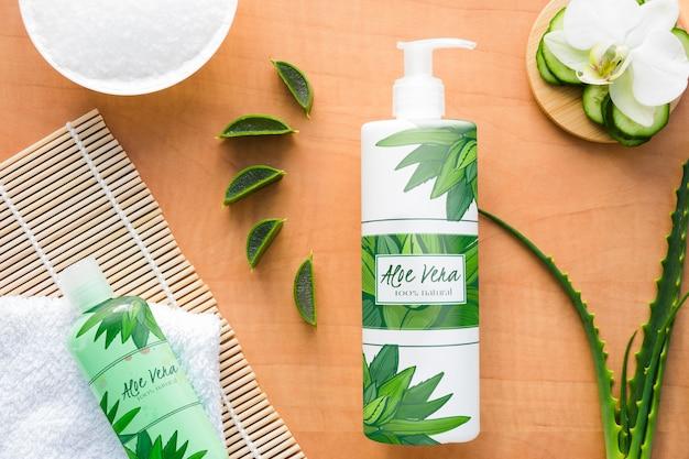 Kosmetisches produkt mit aloe vera scheiben