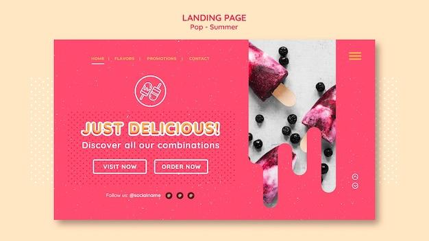 Kostenlose designvorlage für themen-landingpages
