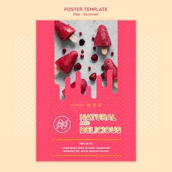 Kostenlose designvorlage für themenplakate