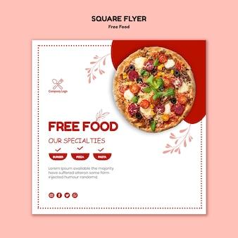 Kostenlose food flyer design