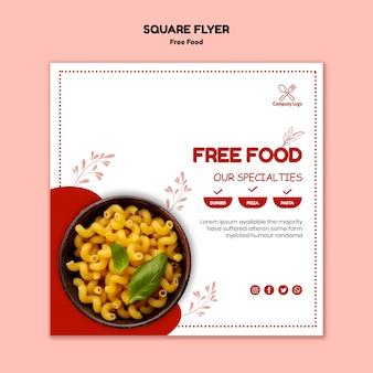 Kostenlose food flyer vorlage