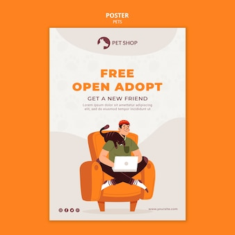 Kostenlose offene adoptionsplakatvorlage