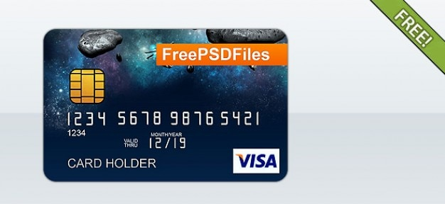 Kostenlose psd credit card template