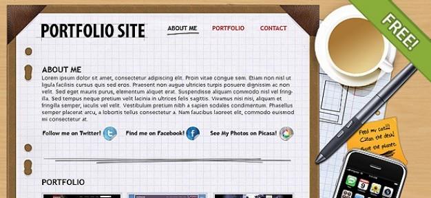 Kostenlose psd portfolio-layout
