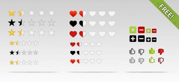 Kostenlose psd rating elemente und icons