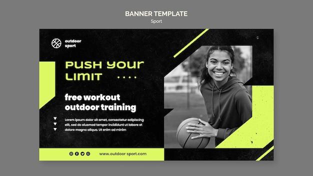 Kostenlose workout-banner-vorlage