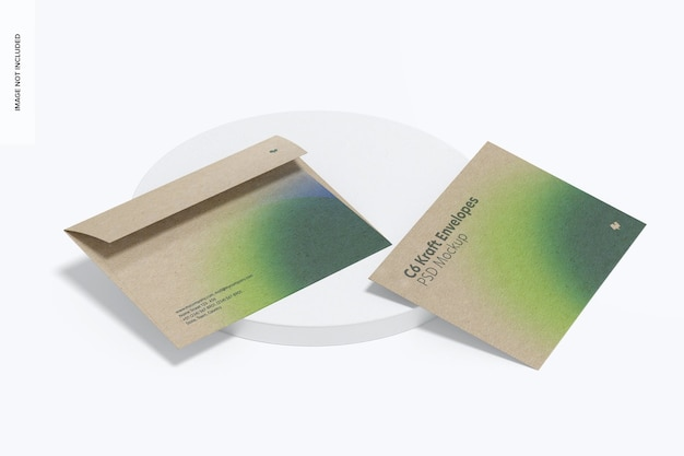 Kraft envelopes mockup