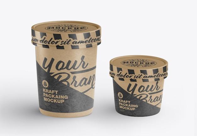Kraft food cup mockup