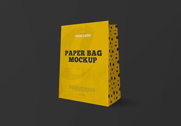 Kraft papiertüte modell