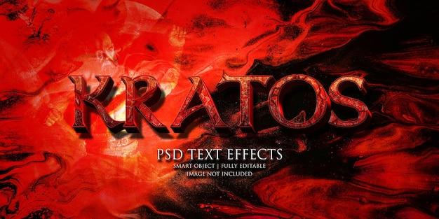 Kratos texteffekt
