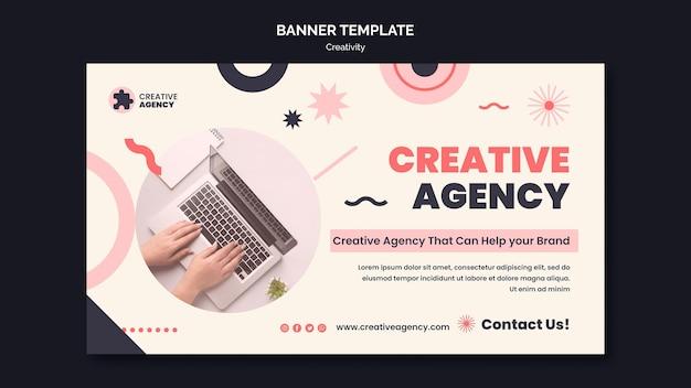 Kreativagentur-banner-vorlage