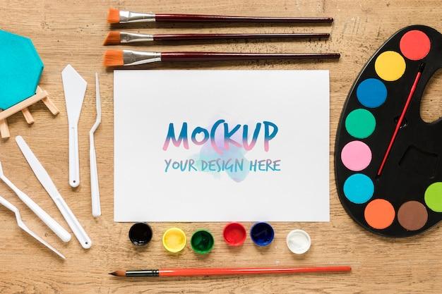Kreative aquarell- und farbsammlung