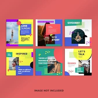 Kreative blogging instagram post vorlage