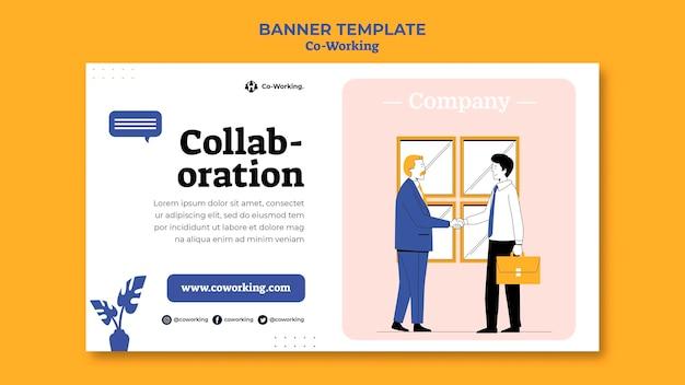 Kreative co-working-banner-vorlage
