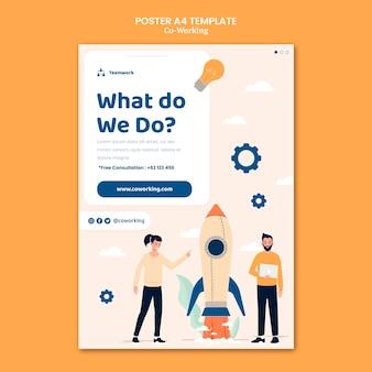 Kreative co-working-plakatvorlage
