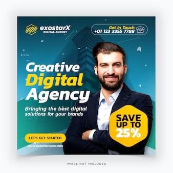 Kreative digitale agentur social media post