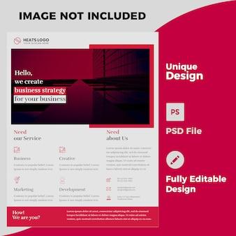 Kreative firma flyer design psd vorlage Premium PSD